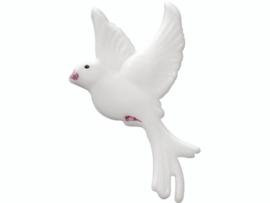 Wax duif 40 x 23 mm wit