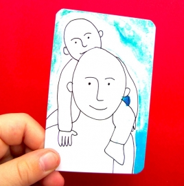 Awesomes Kidskaartjes incl handig meeneemzakje!