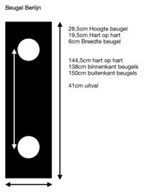 Vordach Berlin (150cm x 100cm schwarz) incl. Versandkosten