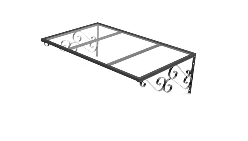 Vordach London (120cm x 80cm schwarz) incl. Versandkosten