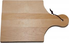 Kaas- Snijplank Vierkant met handgreep en koord