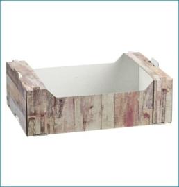 Fruitkrat Karton Wood 28*19,5*9 / 50 stuks