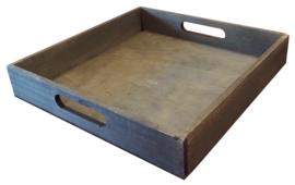 Houten Dienblad Vierkant grey-wash 28 cm