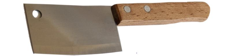 Kaasbijltje met houten handvat ca. 18 cm (per 50 stuks)