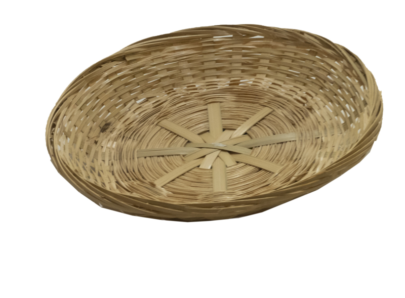 Bamboe mand Rond 35 cm Laag Model