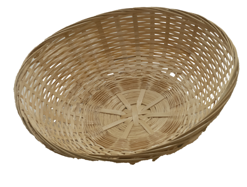 Bamboe mand Rond 20 cm Hoog Model
