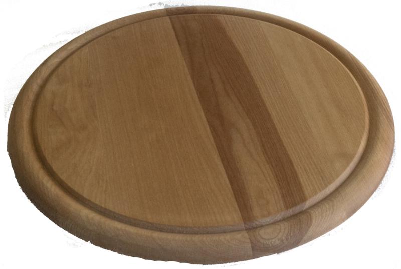 Kaasplank rond ca. 25 cm met groef