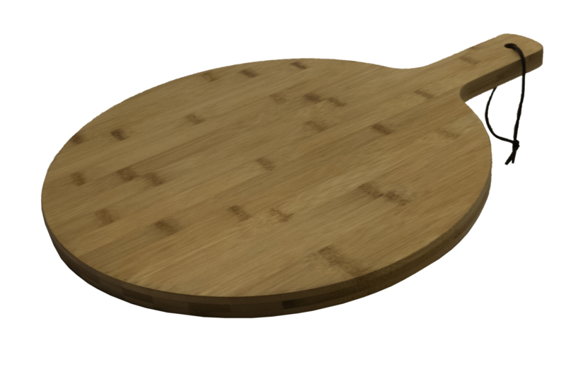 Bamboe Serveerplank Rond ca 35 cm