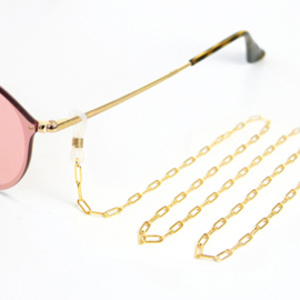Zonnebrilkoord - goud grote schakel