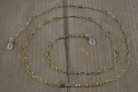 Zonnebrilkoord - goud kleine schakel