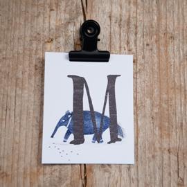 M van Miereneter - Letterkaartje