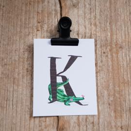 K van Krokodil - Letterkaartje
