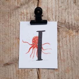 I van Inktvis - Letterkaartje