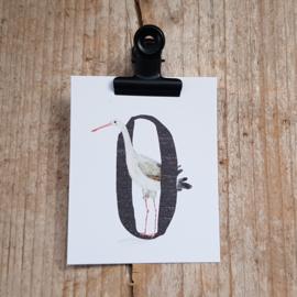 O van Ooievaar - Letterkaartje