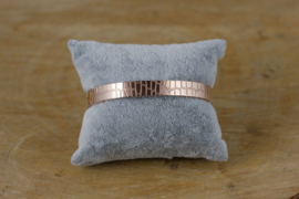 Stainless steel (rvs) armband 'crocodile' rosegold breed