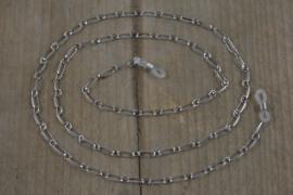 Zonnebrilkoord - zilver grote schakel