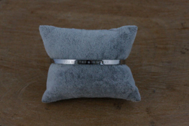 Quote armband 'You Are The Star In My Sky' zilver