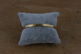 Quote armband 'I Love You To The Moon and Back' goud