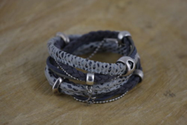 Snake Dark Grey Silver