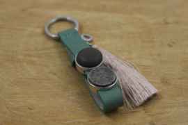 Meadow green beige sleutelhanger