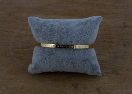 Quote armband 'Love Life and Enjoy Every Moment' gold