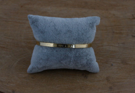 Quote armband 'You Are The Star In My Sky' goud