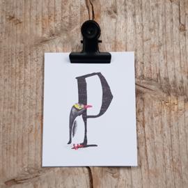 P van Pinguin - Letterkaartje