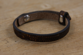 CUOIO ARMBAND CROCO COLONIAL BROWN GOLD