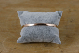 Stainless steel armband rosegold zonder quote