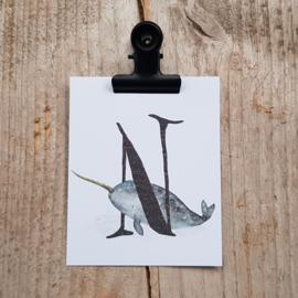 N van Narwal - Letterkaartje