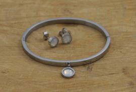Roestvrij stalen (RVS) Stainless steel armbanden met setting voor Swarovski element