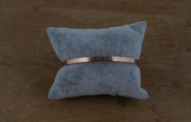 Quote armband 'I Love You To The Moon and Back' rosé goud