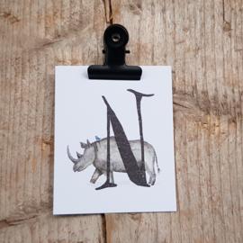 N van Neushoorn - Letterkaartje