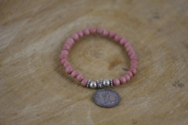 Wooden Pink Silver Coin
