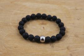 Lava stenen armband zwart