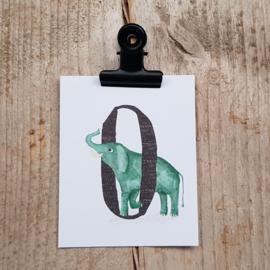 O van Olifant - Letterkaartje