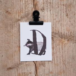 D van Das - Letterkaartje