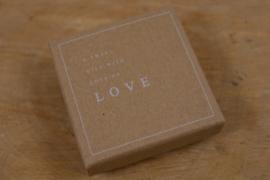 Sieraden cadeaudoosje - A small gift with lots of love