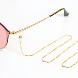 Zonnebrilkoord - wit goud