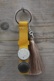 Mineral yellow beige sleutelhanger