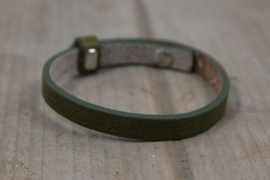 Cuoio armbanden leer Olive green