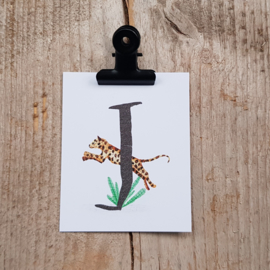 J van Jaguar - Letterkaartje