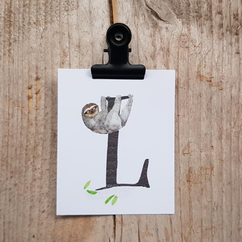 L van Luiaard - Letterkaartje