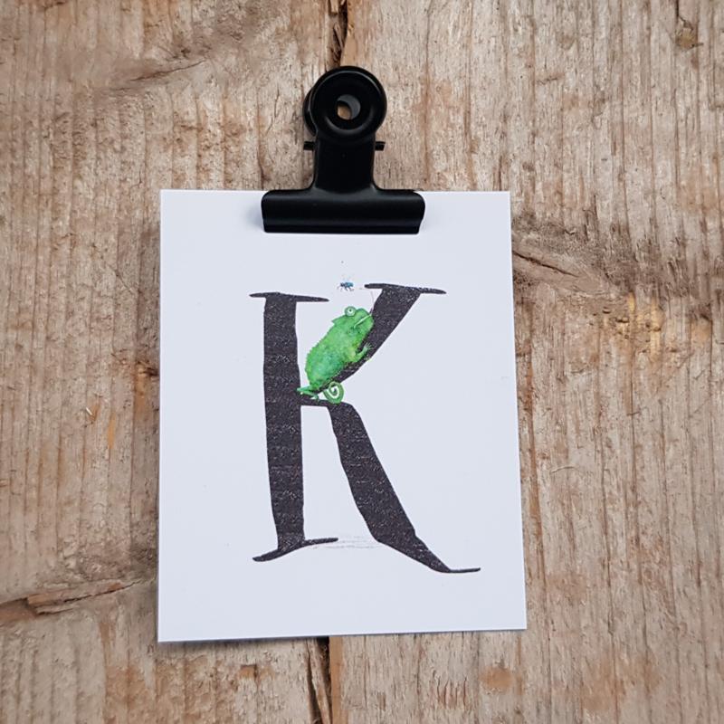 K van Kameleon - Letterkaartje