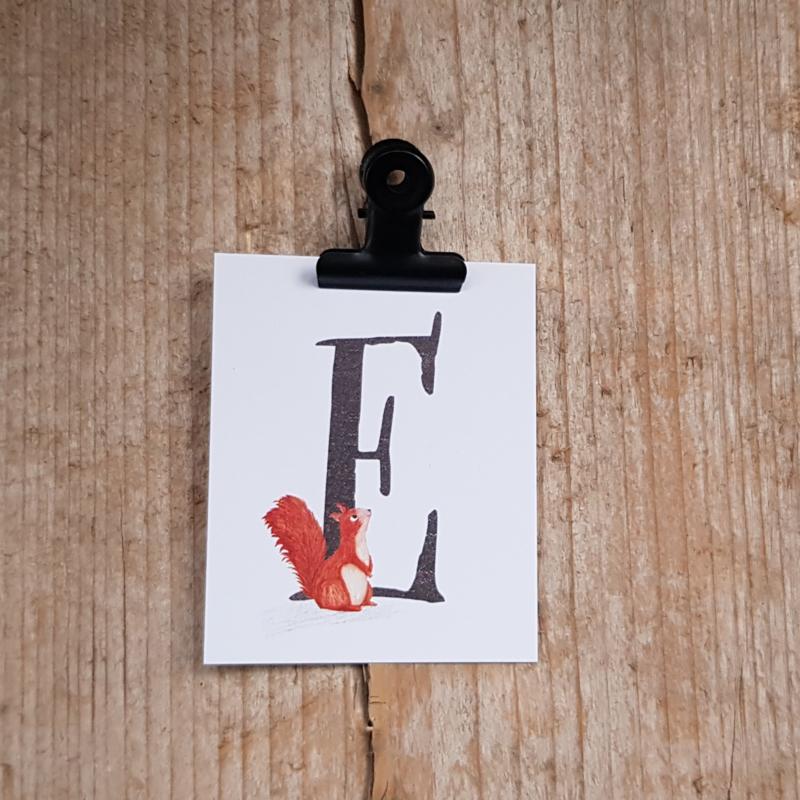 E van Eekhoorn - Letterkaartje