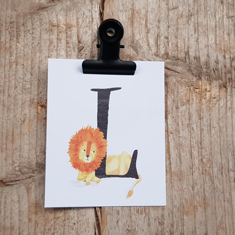 L van Leeuw - Letterkaartje