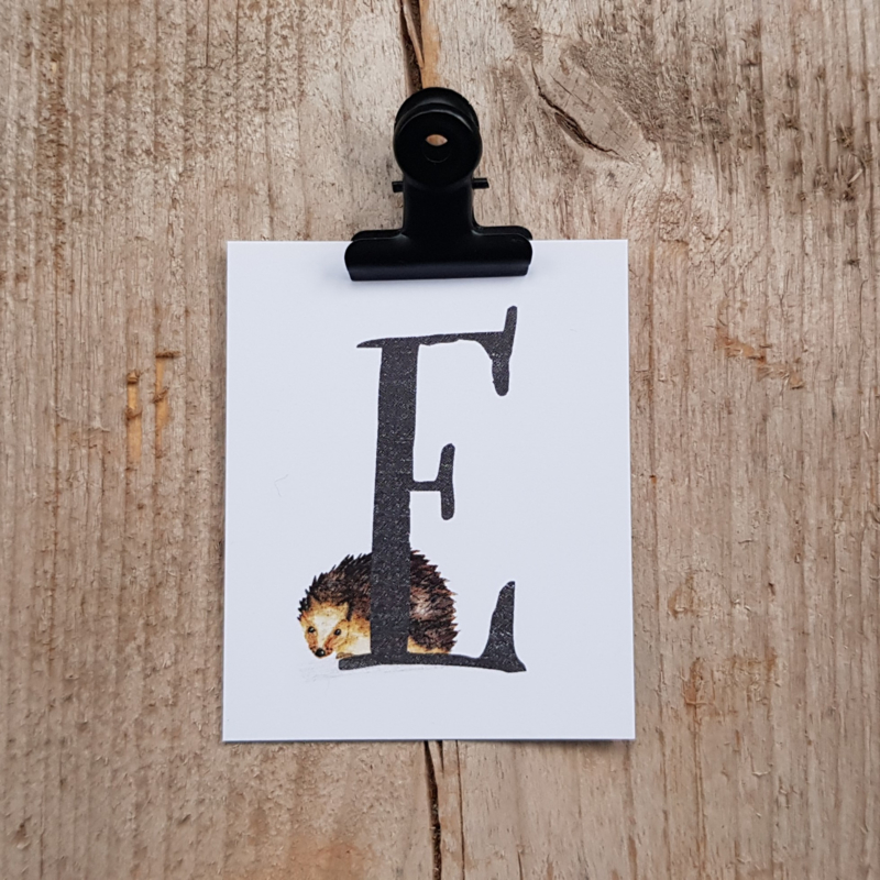 E van Egel - Letterkaartje