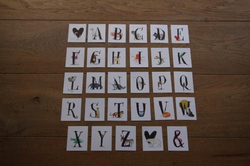 Letterkaartjes A-Z