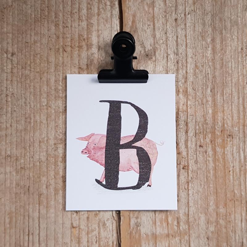 B van Big - Letterkaartje