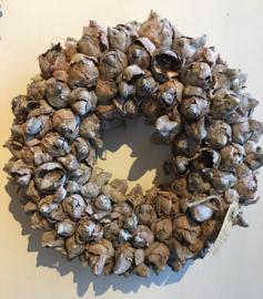 Krans coco fruit natuur 30 cm